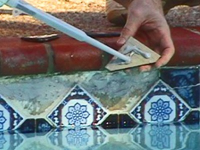 Pool Repairs- With Two part epoxies and Polyurea Joint Filler