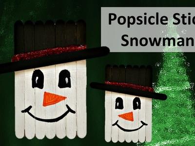 Popsicle stick Snowman Craft || DIY || Princy World