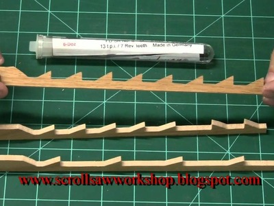 Scroll Saw School Lesson0001 Scroll saw blades Part 1
