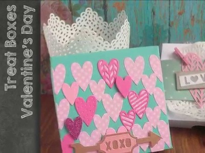 Sizzix - Big Shot  - Treat Box tutorial n.2 for Valentine's Day