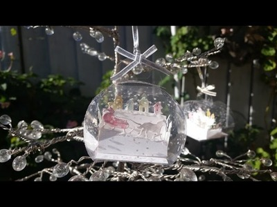 Snow Globe - Curvy Keepsake Box