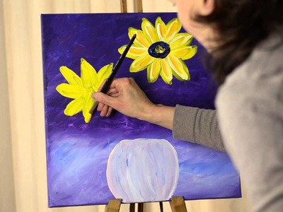 TANJA BELL Painting Flowers Lesson Step-by-Step Tutorial