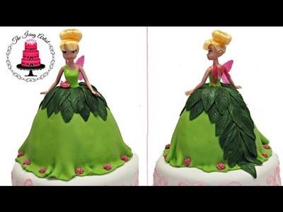 Tinkerbell Barbie Doll Dress Cake - How To With The Icing Artist
