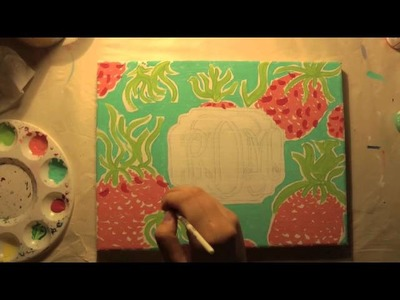 """Watch Me Paint: Lilly Pulitzer's """"Spike The Punch"""" with Monogram"""