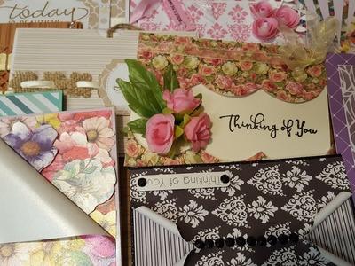 10 cards 1 kit. Crafty Ola's '' Love my scraps'' handmade cards.Set #4