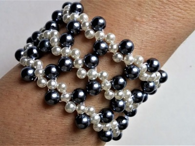 2 colors pearl beads jewelry set. Make your own jewelry for any special occasion