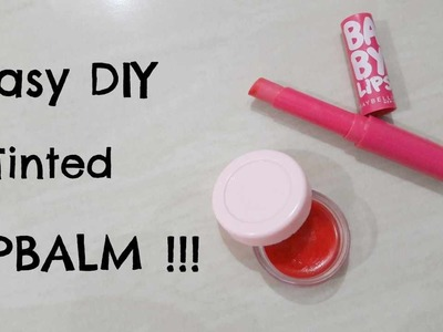 2 Easy DIY Tinted  Lip Balm Recipes Without Beeswax !!!!