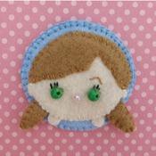 Adorable Felt Handmade Tsum Tsum Characters - Anna (Fridge Magnet)