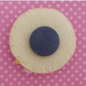 Adorable Felt Handmade Tsum Tsum Characters - Belle (Fridge Magnet)