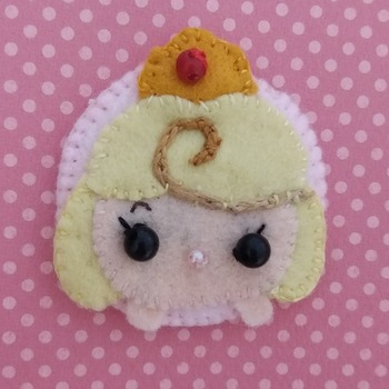 Adorable Felt Handmade Tsum Tsum Characters - Princess (Fridge Magnet)