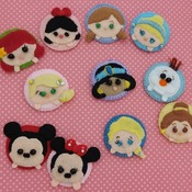 Adorable Felt Handmade Tsum Tsum Characters - Snow White (Fridge Magnet)
