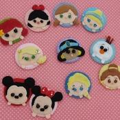 Adorable Felt Handmade Tsum Tsum Characters - Ariel  (Fridge Magnet)