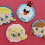 Adorable Felt Handmade Tsum Tsum Characters - Rapunzel (Fridge Magnet)