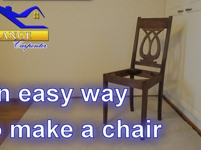 Amazingly easy way to build a chair - tips and tricks