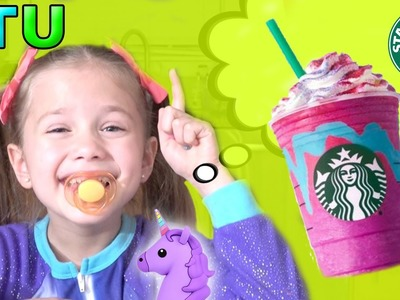 Bad Baby Makes Mess - STARBUCKS UNICORN Frappe FAIL ! DIY Starbucks Frappe - Starbucks Coffee Drink