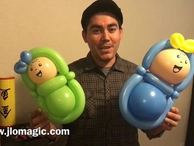 Balloon baby - tutorial
