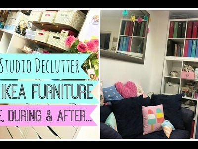 Craft Studio Declutter. New Ikea Furniture. Before, During & After. Part 2