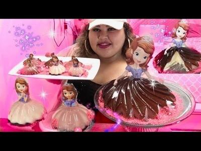 Disney Princess Sofia the first Jello Princess Cake DIY