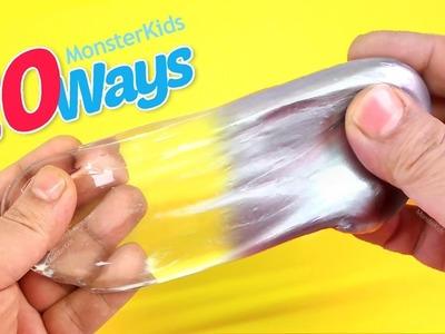 DIY 20 Ways To Make Slime Mega Pack ! New MonsterKids Best Slime Collection 35M - How to make slime