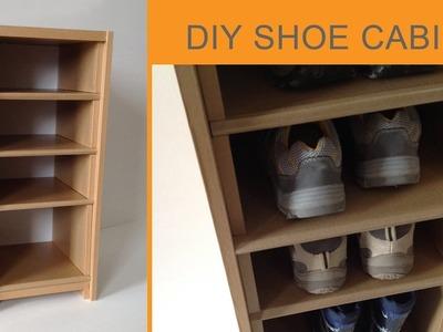 DIY Cardboard Shoe Cabinet: (cardboard furniture)