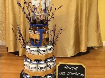 DIY Corona Beer Can.Bottle Cake For Boyfriend