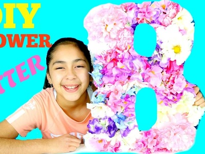 DIY CUTE FLOWER LETTER TO DECORATE YOUR ROOM | Bcutecupcakes Life