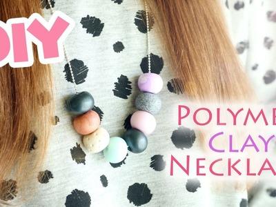 DIY Easy Bead Necklace│Polymer Clay FIMO Tutorial