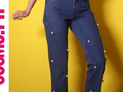 DIY Fashion: Pearl Embellished Jeans