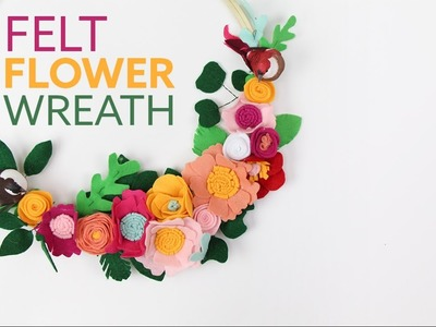 DIY Felt Flower Wreath | Corona de flores de Fieltro