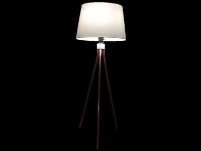 DIY FLOOR LAMP, DORM PROJECT