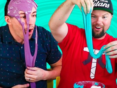 DIY FLUFFY SLIME! Men Try Making the FLUFFIEST and STRETCHIEST Slime!