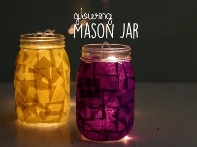 DIY Glowing Mason Jar