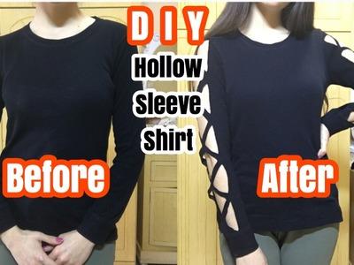 DIY: Hollow Sleeve Shirt! | Super Easy !! | ORDANI DIY