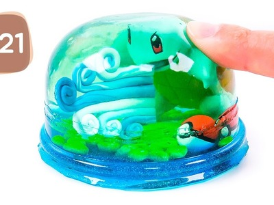 DIY How to Make Pokemon Squirtle Pudding Jelly #21 - By MagicPang