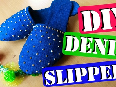 DIY : How To Make Slippers At Home using Old Jeans | MashDIYzone