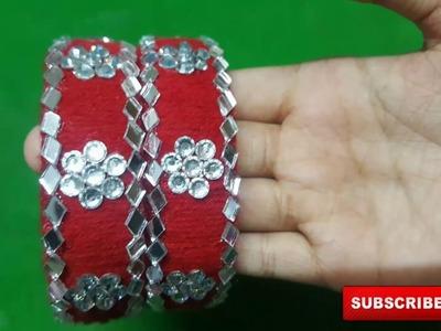 (DIY)How to make Woollen Designer Bangles.The Stunning handmade's.