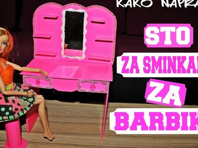 DIY  Soba za barbike #3 Makeup table for barbies. Sto za sminkanje za barbike