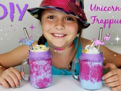 DIY STARBUCKS UNICORN FRAPPUCCINO HEALTHIER VERSION. KID FRIENDLY