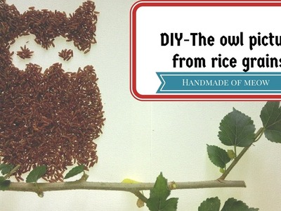DIY - The owl picture from rice grains (Handmade Of Meow)