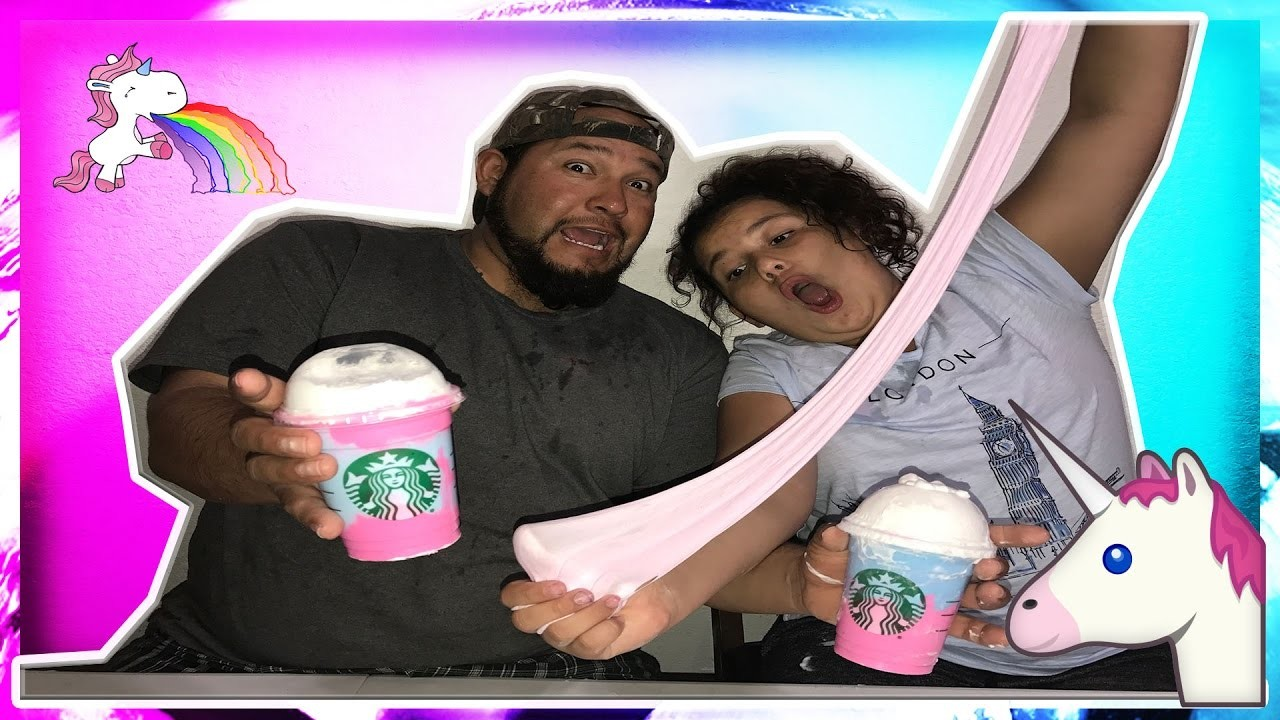 DIY UNICORN FRAPPUCCINO SLIME WITH MY DAD | HOW TO MAKE SLIME