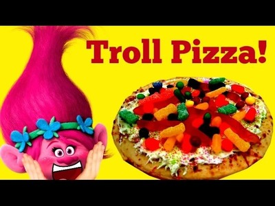 DREAMWORKS TROLLS Poppy Makes a Troll Pizza!!  DIY!  Boss Baby Helps!!