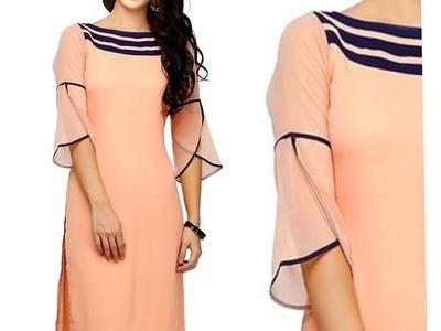 Full Length PETAL | TULIP Sleeve for Kurti | Kameez | Dress| DIY - 2