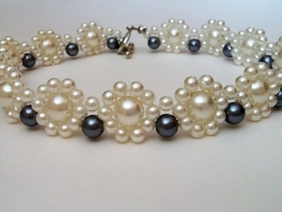 Gorgeous DIY Wedding Jewelry Design. Pearl Necklace and Bracelet Set