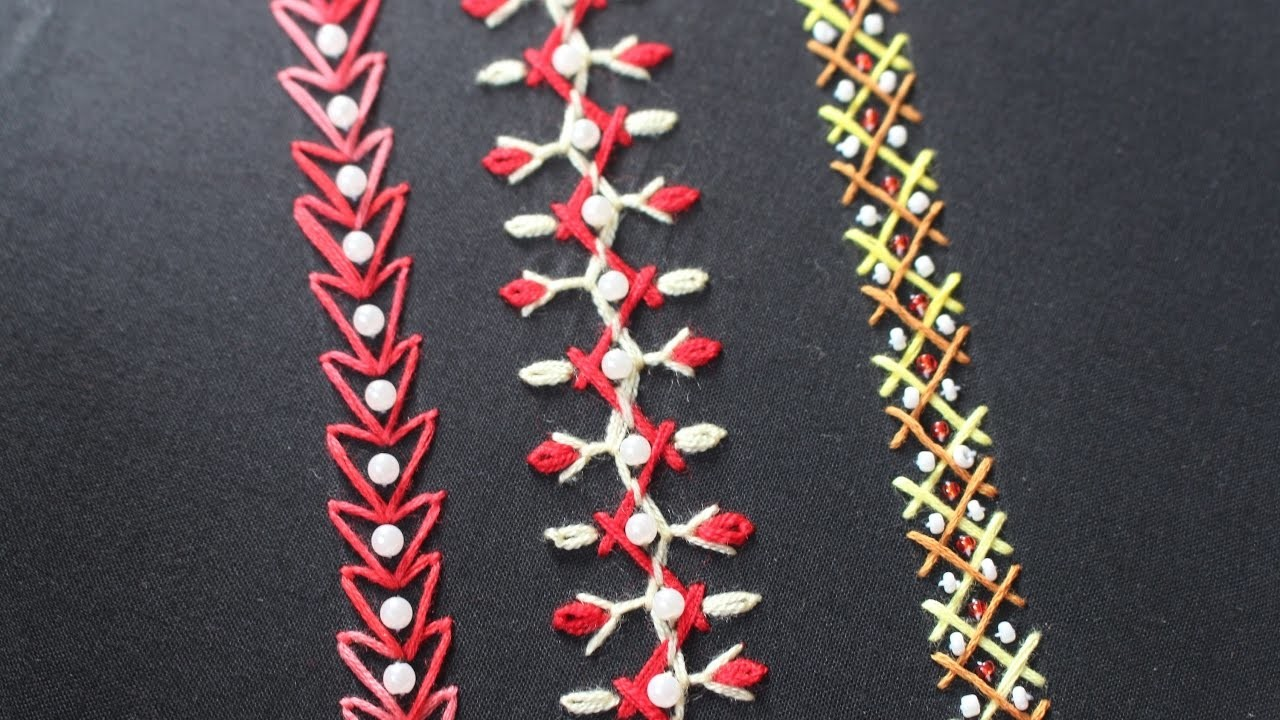 Stitch arrowhead lace hand embroidery for