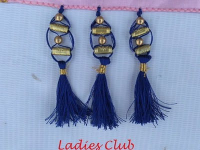 How to do Saree Kuchu.Tassels using Beads Design - 13 I Detailed Tutorial. !!