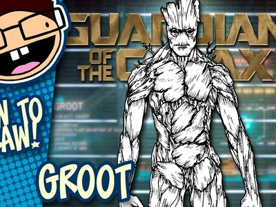 How to Draw GROOT (Guardians of the Galaxy) | Narrated Easy Step-by-Step Tutorial