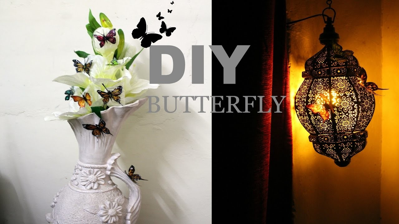 How to make butterflies using waste plastic bottles : DIY for home decor