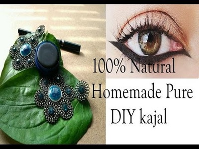 How to Make Kajal at Home | 100% Natural Homemade DIY kajal | Indian Organic Kajal | Prerna jha