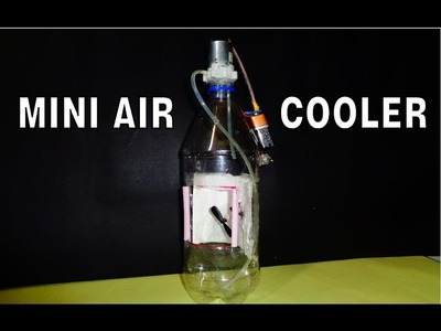 How to make powerful Mini Air Cooler from plastic bottle DIY