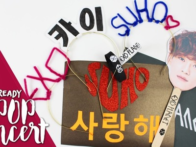 KPOP DIY: Get ready for a kpop concert  KfreakEnglish  EXO.